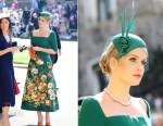 Lady Kitty Spencer In Dolce & Gabbana Alta Moda - Prince Harry & Meghan Markle's Royal Wedding
