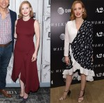 Jessica Chastain In Victoria Beckham & Givenchy - Build Series & 'Woman Walks Ahead' New York Screening