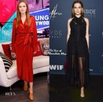 Zoey Deutch In Nanushka & Christian Dior - 'The Year Of Spectacular Men' LA Premiere & Young Hollywood Studio Visit