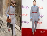 Zoey Deutch In Valentino - Netflix's 'Set It Up' New York Screening