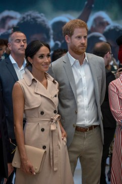 Prince Harry, Duke of Sussex and Meghan, Duchess of Sussex visit the Nelson Mandela Centenary Exhibition