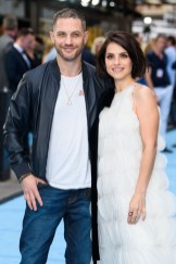 Charlotte Riley and Tom Hardy attend the 'Swimming With Men' UK Premiere