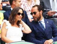 Pippa Middleton and James Middleton attend day four of the Wimbledon Lawn Tennis Championships