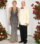 Princess Charlene of Monaco In Atelier Versace  - 70th Monaco Red Cross Ball Gala