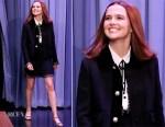 Zoey Deutch In Miu Miu - The Tonight Show Starring Jimmy Fallon