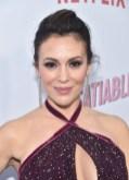 Alyssa Milano In Marchesa - Netflix's 'Insatiable' Season 1 Premiere