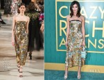 Gemma Chan In Oscar de la Renta - 'Crazy Rich Asians' LA Premiere