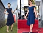 Jennifer Garner In Roland Mouret - Star On The Hollywood Walk Ceremony