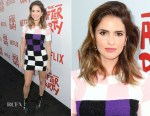 Shelley Hennig In Versace - Netflix's 'The After Party' Special Screening