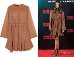 Alicia Vikander's Chloe Belted Mini Dress
