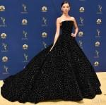 Angela Sarafyan In Christian Siriano - 2018 Emmy Awards