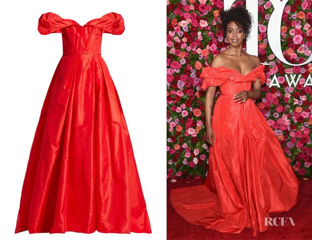 Condola Rashad's Carolina Herrera Off-The-Shoulder Gown