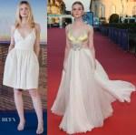 Elle Fanning In Miu Miu - 'Galvetstone' Deauville American Film Festival Premiere