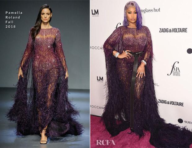 Nicki Minaj In Pamella Roland - Daily Front Row's 2018 Fashion Media Awards