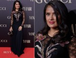 Salma Hayek in Gucci - Vanity Fair Personality Of The Year Gala