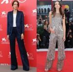 Stacy Martin In Sonia Rykiel & Chanel - 'Vox Lux' Venice Film Festival Photocall & Premiere