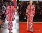 Tilda Swinton In Schiaparelli Haute Couture - 'At Eternity's Gate' Venice Film Festival Premiere