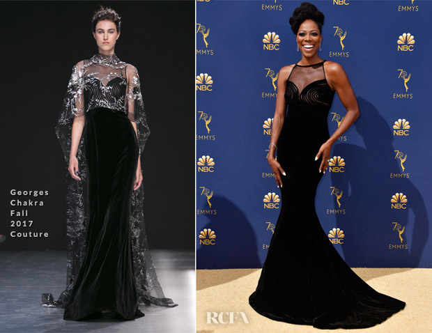 Yvonne Orji In Georges Chakra Couture 2018 Emmy Awards