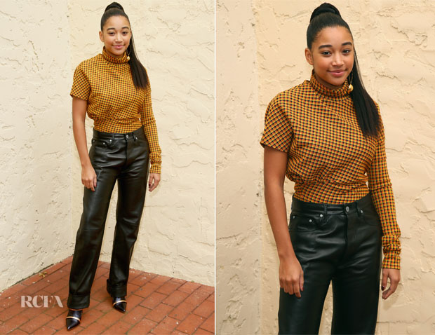 Amandla Stenberg In Calvin Klein - Hamptons International Film Festival 2018