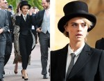 Cara Delevingne In Burberry - Princess Eugenie Of York's Wedding