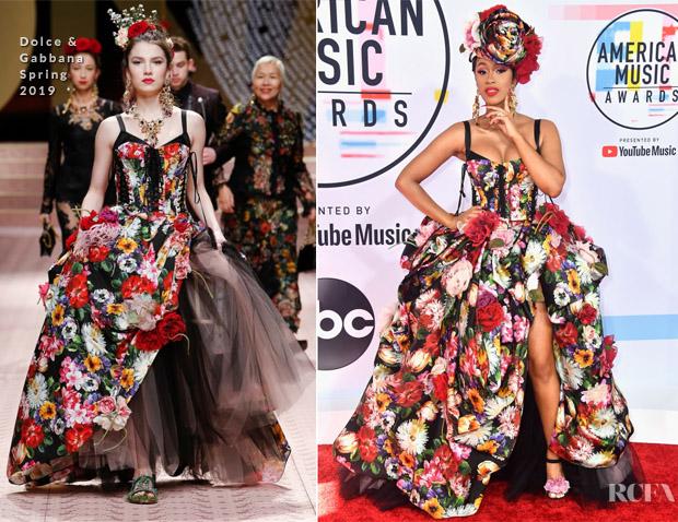 Cardi B In Dolce & Gabbana -  2018 American Music Awards