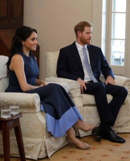 Prince Harry, Duke of Sussex and Meghan, Duchess of Sussex meet Prime Minister of Australia Scott Morrison and his wife Jenny Morrison at Kirribilli House