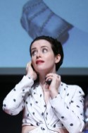 Claire Foy In Carolina Herrera & Elie Saab - 'The Girl In The Spider's Web' Rome Film Festival Photocall & Premiere