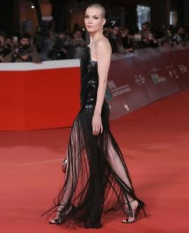 Sylvia Hoeks In Christopher Kane & Saint Laurent - 'The Girl In The Spider's Web' Rome Film Festival Photocall & Premiere