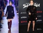Kiernan Shipka In Elie Saab - Netflix's 'Chilling Adventures of Sabrina' LA Premiere