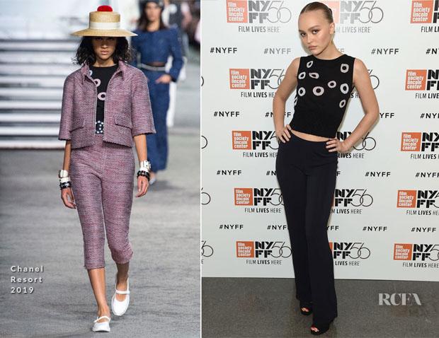 Lily-Rose Depp In Chanel - 'A Faithful Man' New York Film Festival Premiere