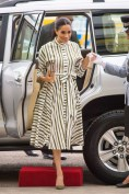 Meghan, Duchess of Sussex In Martin Grant - Tonga Visit Day 2