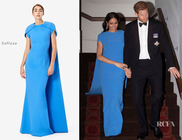 Meghan, Duchess of Sussex In Safiyaa - Fiji State Dinner