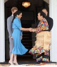 Meghan, Markle In Veronica Beard - Tonga Departure