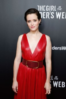 Claire Foy In Valentino - 'The Girl In The Spider's Web' New York Screening (2)