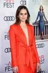 Felicity Jones In Brandon Maxwell - 'On The Basis Of Sex' AFI FEST Gala Screening