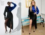 Jennifer Lopez In David Koma - LinkedIn Visit