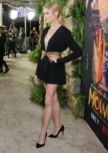 Katherine McNamara In Saint Laurent - Premiere Of Netflix's 'Mowgli'