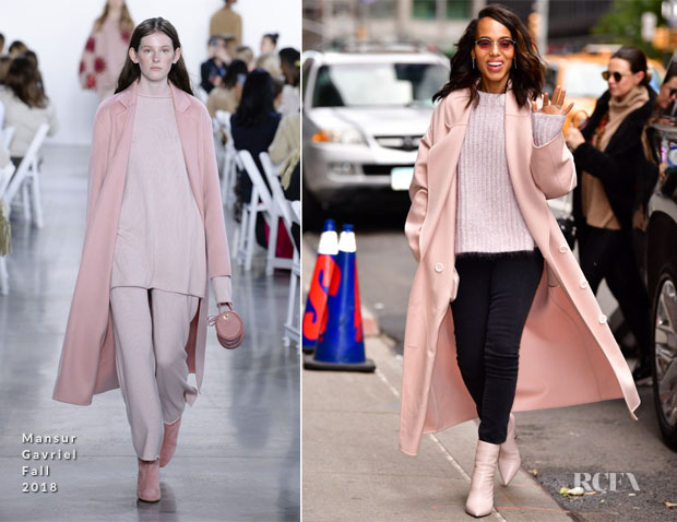 Kerry Washington In Mansur Gavriel - The Late Show with Stephen Colbert