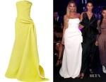 Khloe Kardashian's Maticevski Opera Strapless Gown