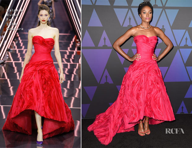 Kiki Layne In Ralph & Russo Couture - 2018 Governors Awards