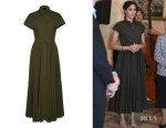 Meghan, Duchess of Sussex's Brandon Maxwell Pleated Poplin Shirt Dress
