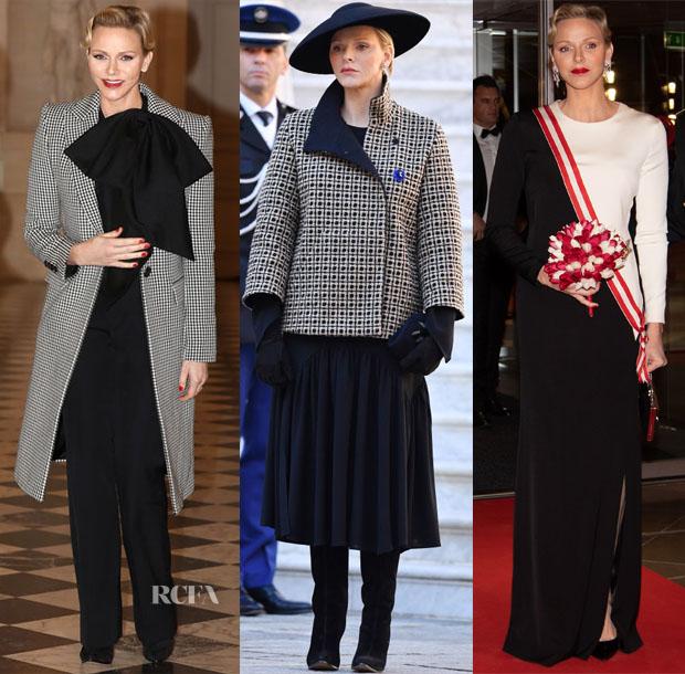 Princess Charlene Of Monaco In Givenchy & Akris - Armistice 2018 & Monaco National Day 2018