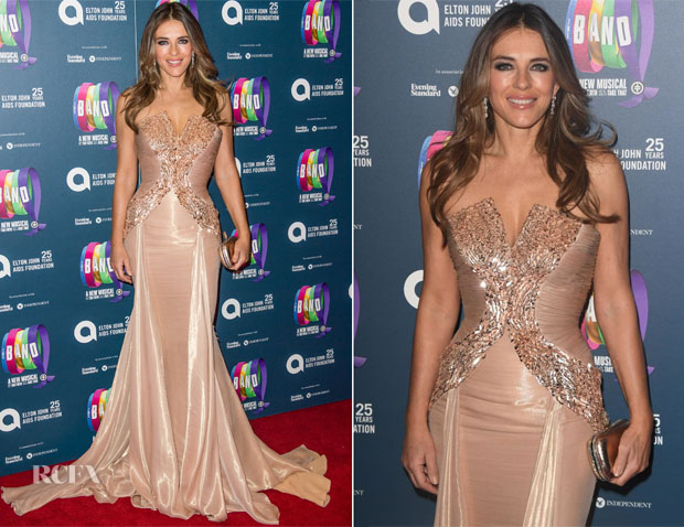 Elizabeth Hurley In Atelier Versace - 'The Band' Charity Gala Performance
