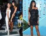 Fashion Blogger Catherine Kallon feature Laura Harrier In Dundas - 9th Annual Bombay Sapphire Artisan Series Finale