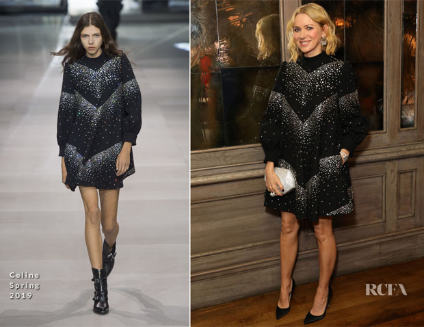 Fashion Blogger Catherine Kallon feature Naomi Watts In Celine - Swarovski Dinner