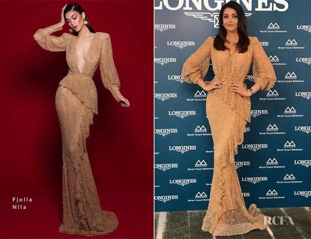 Fashion Blogger Catherine Kallon features Aishwarya Rai Bachchan In Fjolla Nila - Longines Kuwait Event