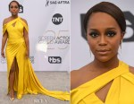 Fashion Blogger Catherine Kallon features Aja Naomi King In Ralph & Russo - 2019 SAG Awards
