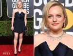 Fashion Blogger Catherine Kallon features Elisabeth Moss In Christian Dior Haute Couture - 2019 Golden Globe Awards