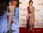 Fashion Blogger Catherine Kallon features Gemma Chan In Prabal Gurung - BAFTA Los Angeles Tea Party