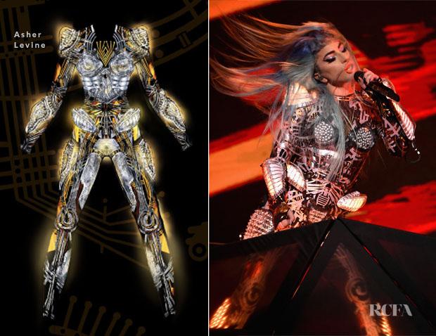 Fashion Blogger Catherine Kallon features Lady Gaga In Asher Levine - 'Enigma' Tour